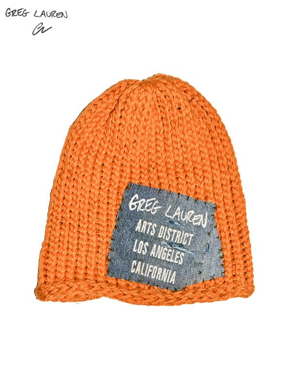 画像1: 【GREG LAUREN - グレッグローレン】Arts District Beanie Patch / Orange (ビーニー/オレンジ) (1)