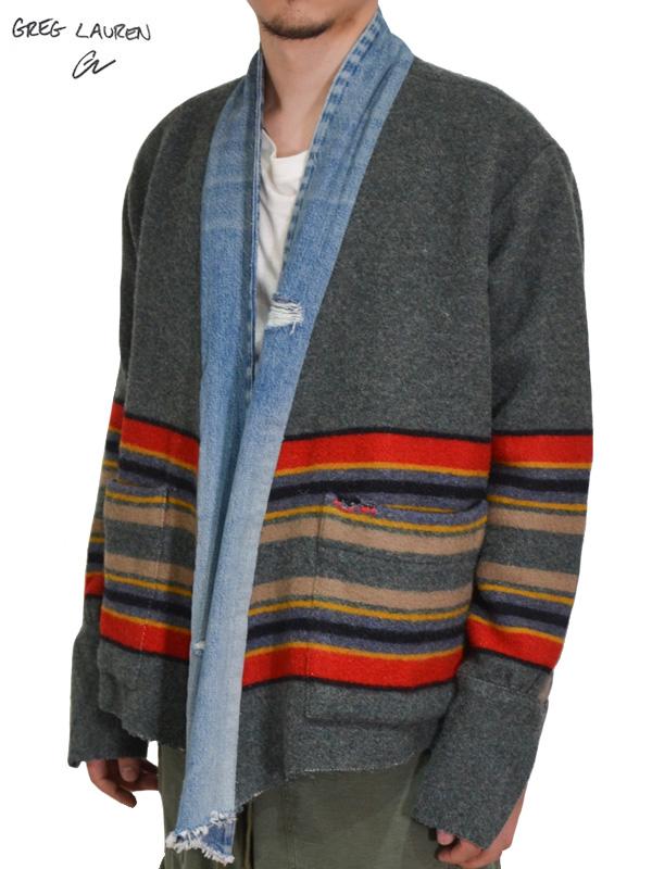 画像1: 50%OFF【GREG LAUREN - グレッグローレン】 Blanket GL1  / Gray(スタジオシャツ/グレー) (1)