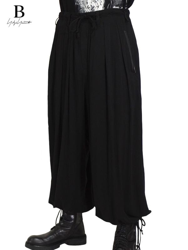 画像1: 【B Yohji Yamamoto  - ビーヨウジヤマモト】3tack Balloon Pants / Black (パンツ/ブラック)  (1)