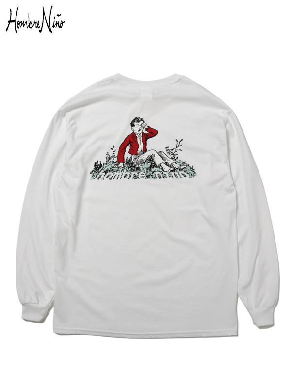 画像1: 20%OFF【Hombre Nino - オンブレニーニョ】It's About Time L/S Tee  / White (Tシャツ/ホワイト) (1)