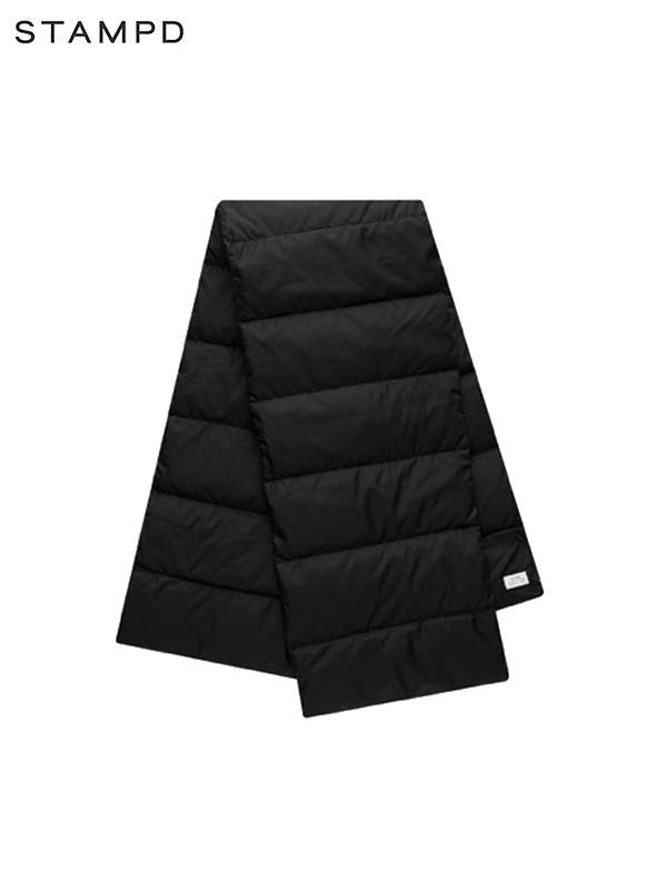 画像1: 40%OFF【STAMPD - スタンプド】International Puffer Scarf / Black (スカーフ/ブラック) (1)