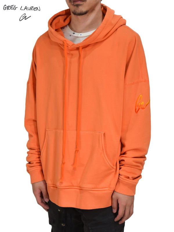 画像1: 50%OFF【GREG LAUREN - グレッグローレン】Cali Hoodie Utility  / Orange (パーカー/オレンジ) (1)