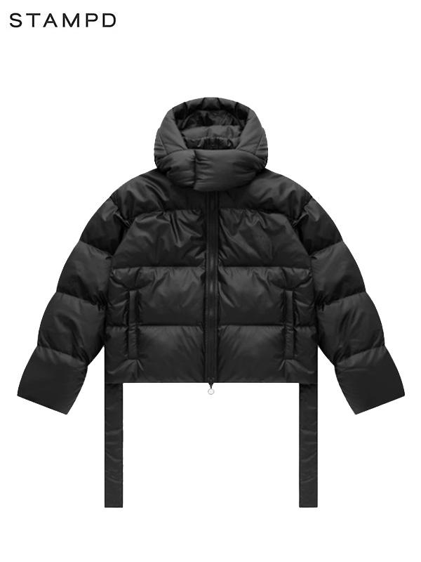 画像1: 50%OFF【STAMPD - スタンプド】Powder Puffer Cropped Hooded Jacket / Black (ジャケット/ブラック) (1)