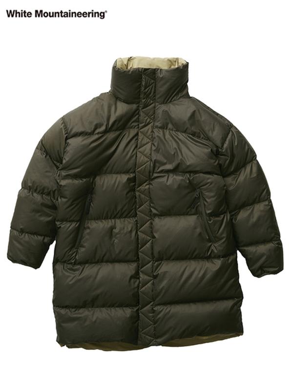 画像1: 20%OFF【White Mountaineering - ホワイトマウンテニアリング】Reversible Down Coat / Khaki (ジャケット/カーキ) (1)
