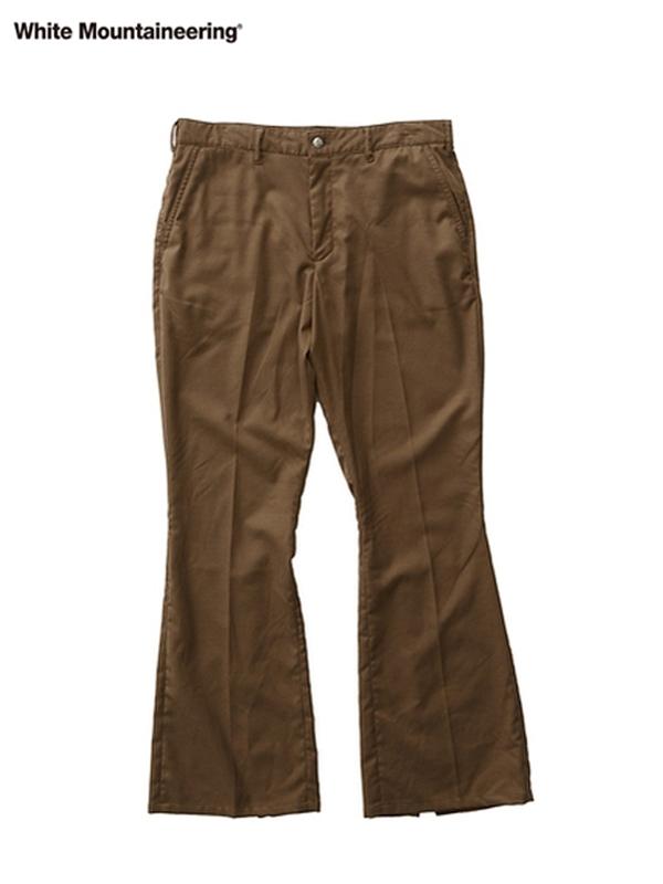 画像1: 30%OFF【White Mountaineering - ホワイトマウンテニアリング】Stretched Saxony Slit Pants  / Brown (パンツ/ブラウン) (1)