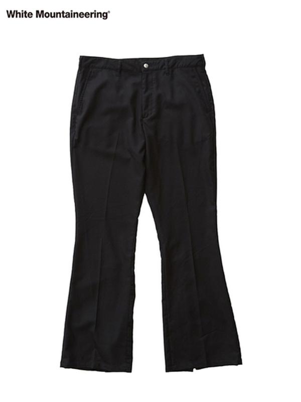 画像1: 20%OFF【White Mountaineering - ホワイトマウンテニアリング】Stretched Saxony Slit Pants  / Black (パンツ/ブラック) (1)
