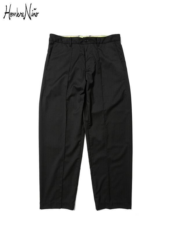 画像1: 20%OFF【Hombre Nino - オンブレニーニョ】Cordura Wool Pants  / Black (パンツ/ブラック) (1)