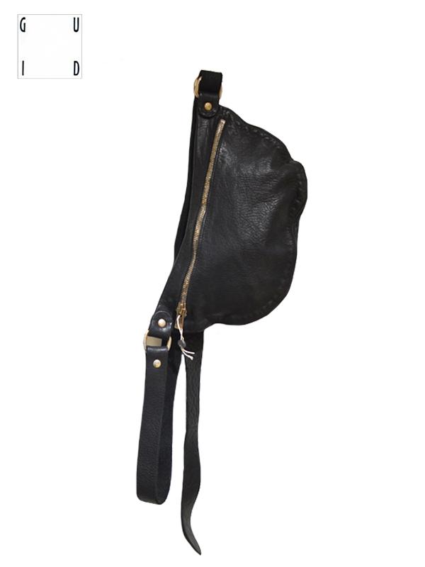 """画像1: 【GUIDI - グイディ】""""Q100"""" Belt Bag / Soft Horse Full Grain / Black (バッグ/ブラック) (1)"""