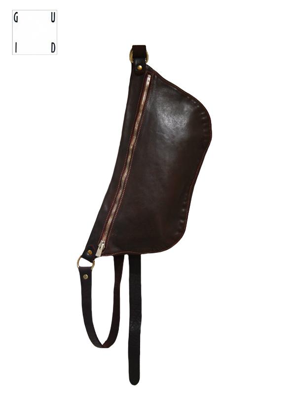 """画像1: 【GUIDI - グイディ】""""Q10"""" Belt Bag / Soft Horse Full Grain / Burgundy (バッグ/バーガンディ) (1)"""