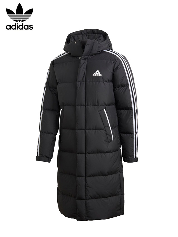 画像1: 【adidas Originals - アディダス オリジナルス】3-Stripes Down Long Coat / Black (ダウンコート/ブラック) (1)