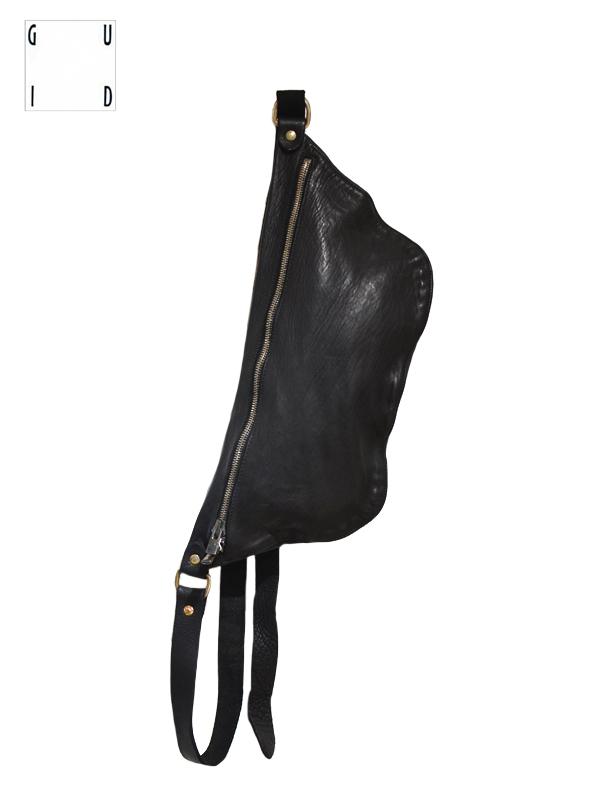 """画像1: 【GUIDI - グイディ】""""Q10"""" Belt Bag / Soft Horse Full Grain / Black (バッグ/ブラック) (1)"""