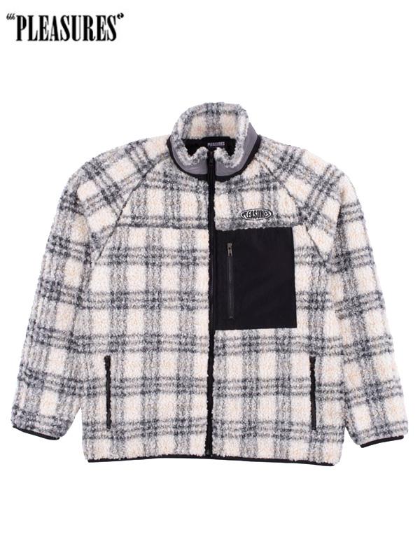 画像1: 【PLEASURES - プレジャーズ】Wraith Poodle Polar Fleece Jacket / Grey (ジャケット/グレー) (1)
