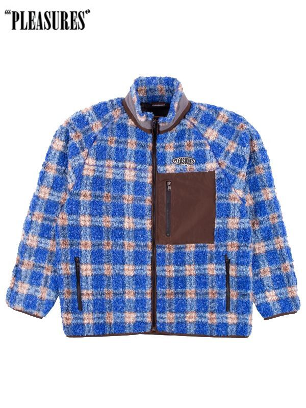 画像1: 【PLEASURES - プレジャーズ】Wraith Poodle Polar Fleece Jacket / Blue (ジャケット/ブルー) (1)