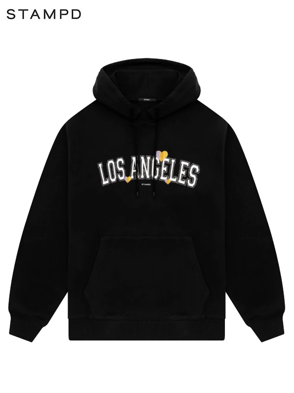 画像1: 【STAMPD - スタンプド】Los Angels Love Hoodie / Black (パーカー/ブラック) (1)