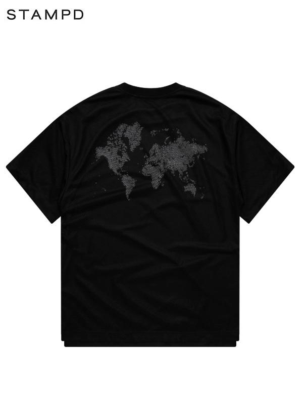 画像1: 【STAMPD - スタンプド】Layered Mesh Tee / Black (Tシャツ/ブラック) (1)