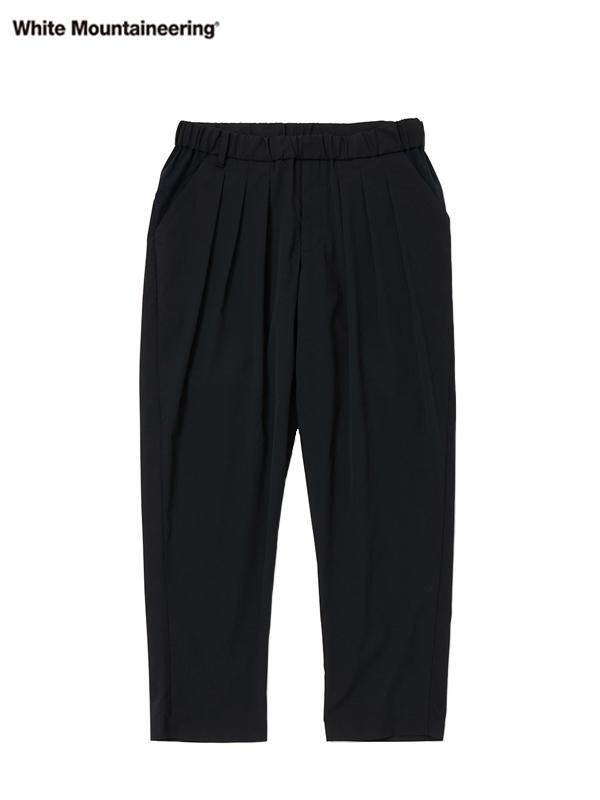 画像1: 【White Mountaineering - ホワイトマウンテニアリング】Solotex 3 Tucked Tapered Pants  / Black (パンツ/ブラック) (1)