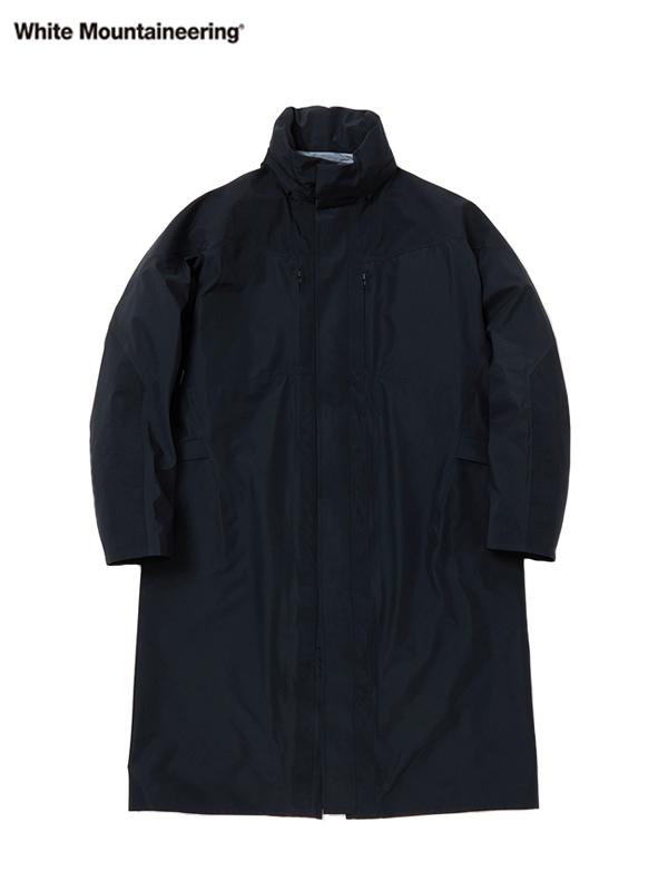 画像1: 【White Mountaineering - ホワイトマウンテニアリング】Gore-Tex Stand Collar Coat / Black (コート/ブラック) (1)