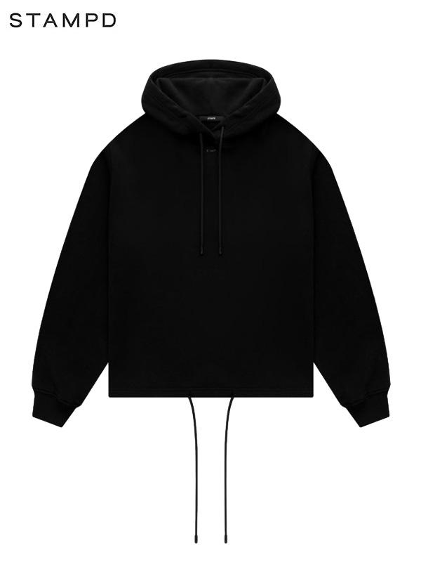 画像1: 【STAMPD - スタンプド】Oversized Cropped Hoodie / Black (パーカー/ブラック) (1)