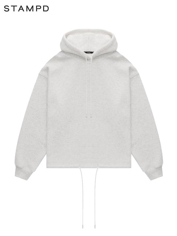 画像1: 【STAMPD - スタンプド】Oversized Cropped Hoodie / Grey (パーカー/グレー) (1)