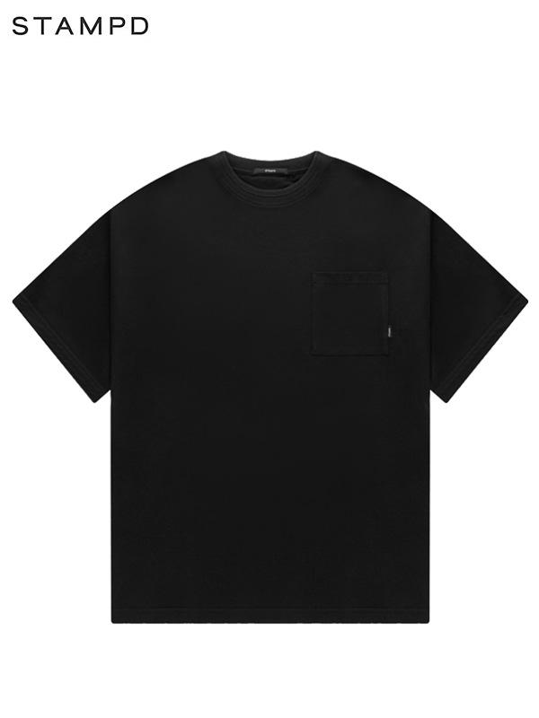 画像1: 【STAMPD - スタンプド】Pique Pocket Tee / Black (Tシャツ/ブラック) (1)