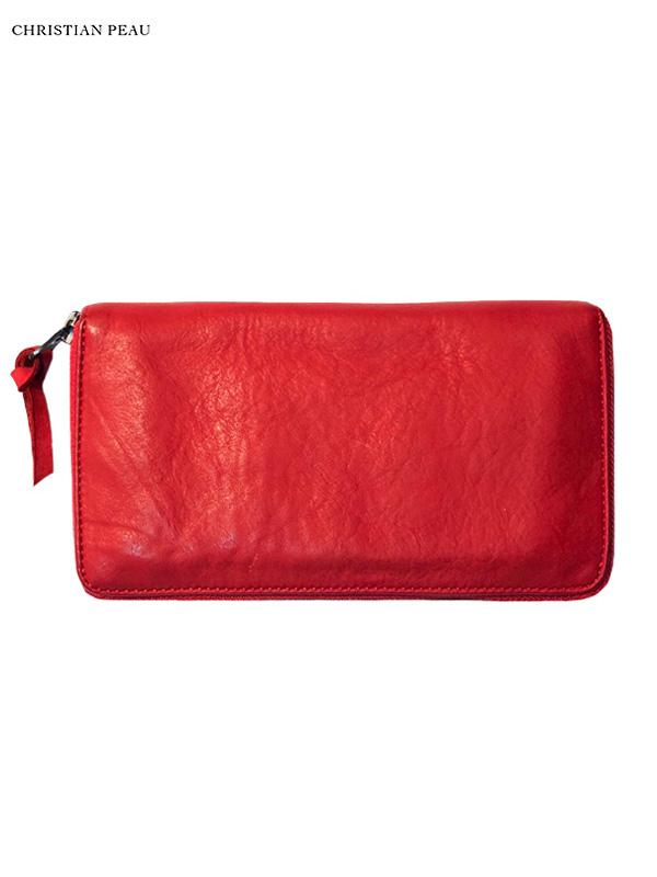 """画像1: 【Christian Peau - クリスチャンポー】B004 Wallet """"Cow Leather"""" / Raspberry(ウォレット/ラズベリー) (1)"""