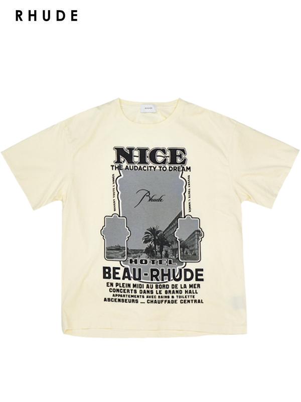 画像1: 20%OFF【RHUDE - ルード】 Nice Tee / White (Tシャツ/ホワイト) (1)