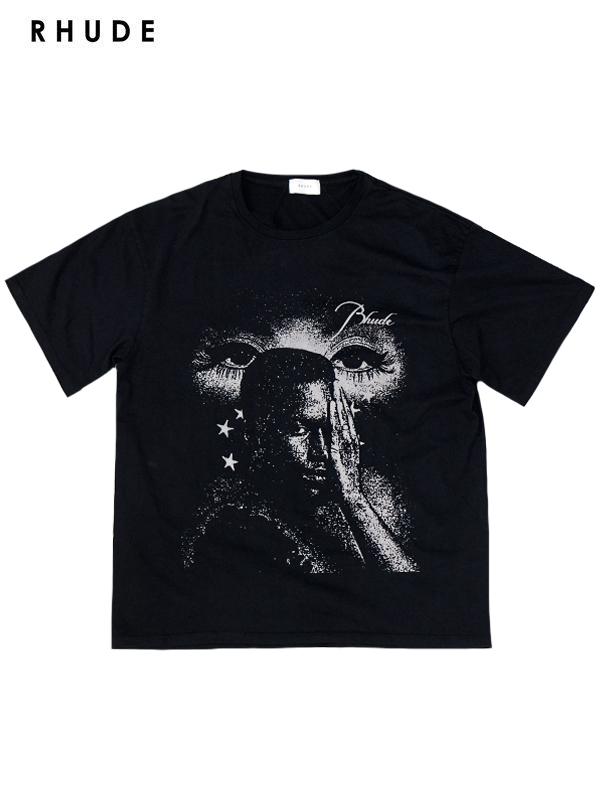 画像1: 【RHUDE - ルード】 Beauty tee / Black (Tシャツ/ブラック) (1)