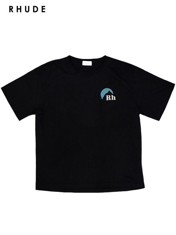 画像1: 【RHUDE - ルード】 Sundry tee / Black (Tシャツ/ブラック) (1)