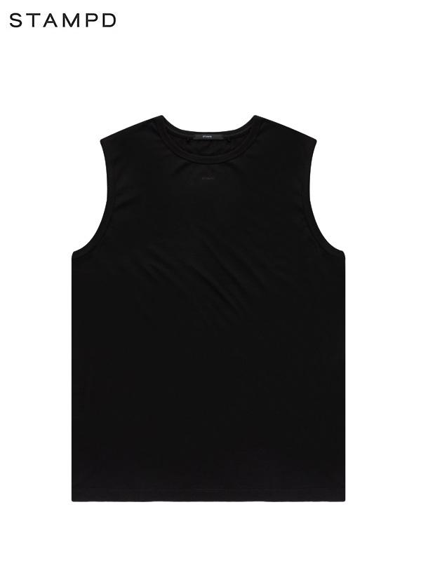 画像1: 【STAMPD - スタンプド】Slub Layering Sleeves Tee / Black (Tシャツ/ブラック) (1)