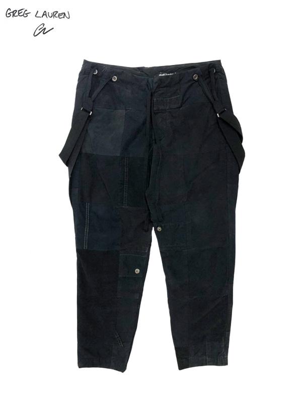 画像1: 【GREG LAUREN - グレッグローレン】 Tent Scrapwork Lounge Pant / Black (パンツ/ブラック) (1)