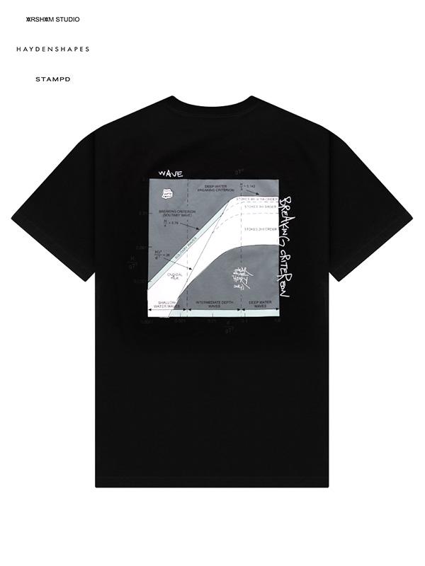 画像1: 【STAMPD × DANIEL ARSHAM × HAYDENSHAPES - スタンプド × ダニエルアーシャム × ヘイデンシェイプス】AHS LOGO TEE / Black (Tシャツ/ブラック) (1)