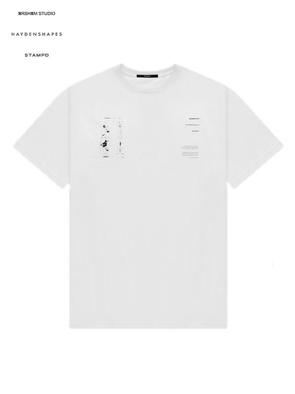 画像1: 【STAMPD × DANIEL ARSHAM × HAYDENSHAPES - スタンプド × ダニエルアーシャム × ヘイデンシェイプス】AHS ERODED TEE / White (Tシャツ/ホワイト) (1)