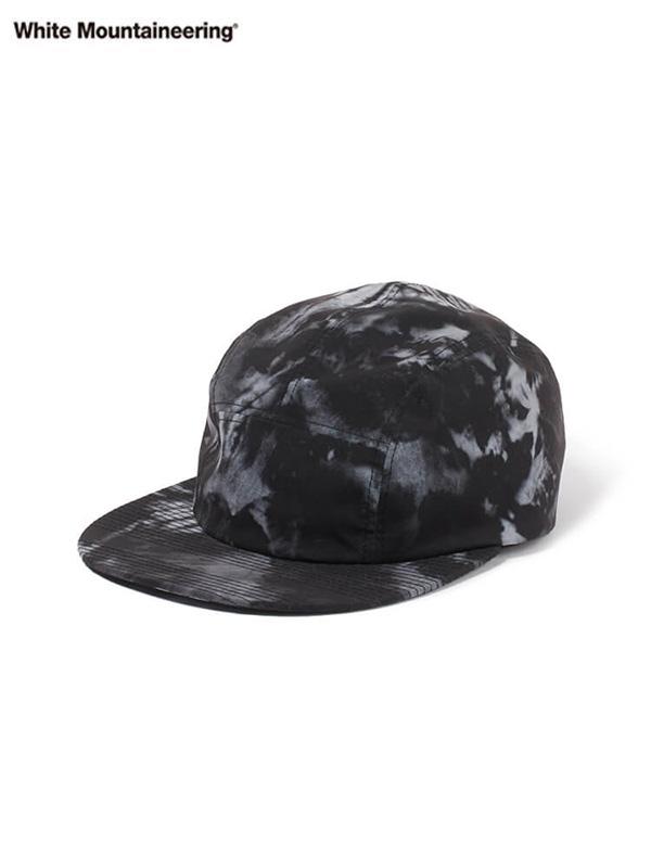 画像1: 30%OFF【White Mountaineering - ホワイトマウンテニアリング】TIE DYE PRINTED JET CAP / Black (キャップ/ブラック) (1)