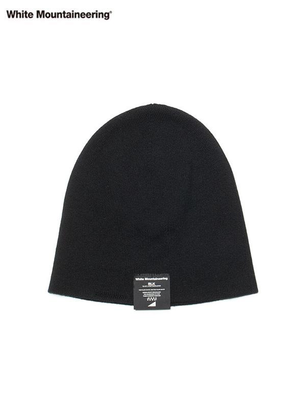 画像1: 【White Mountaineering - ホワイトマウンテニアリング】KNIT CAP / Black (キャップ/ブラック) (1)