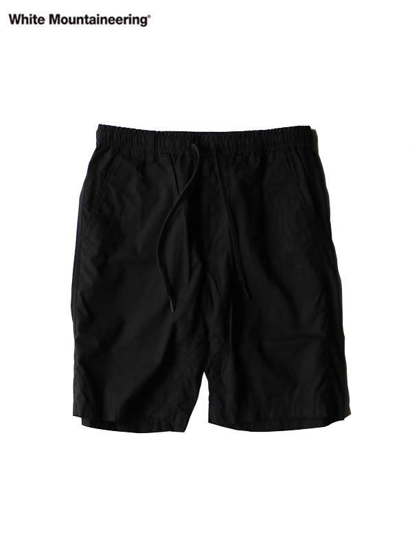 画像1: 【White Mountaineering - ホワイトマウンテニアリング】WR EASY SHORT PANTS/ BLACK (パンツ/ブラック) (1)