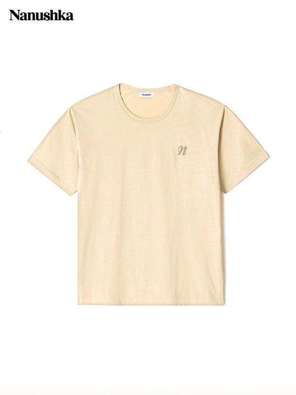 画像1: 【NANUSHKA - ナヌーシュカ】REECE / EMBROIDERED T-SHIRT / CREAM (Tシャツ/クリーム) (1)