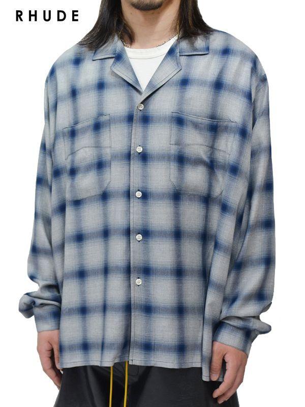 画像1: 【RHUDE - ルード】Camp Shirt / Blue (シャツ/ブルー) (1)