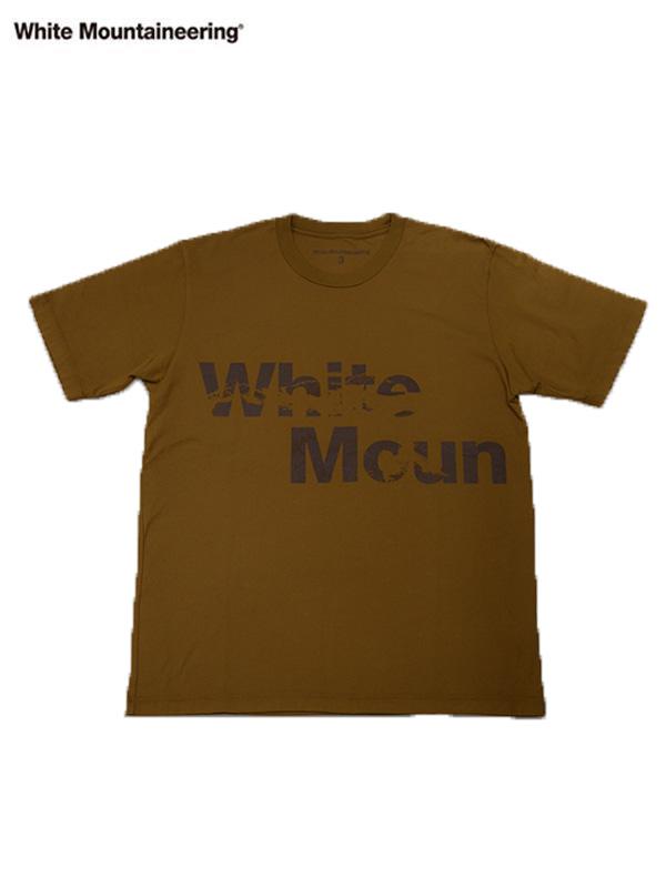 画像1: 【White Mountaineering - ホワイトマウンテニアリング】WM2173504 T-SHIRT / BROWN (T-シャツ/ ブラウン) (1)