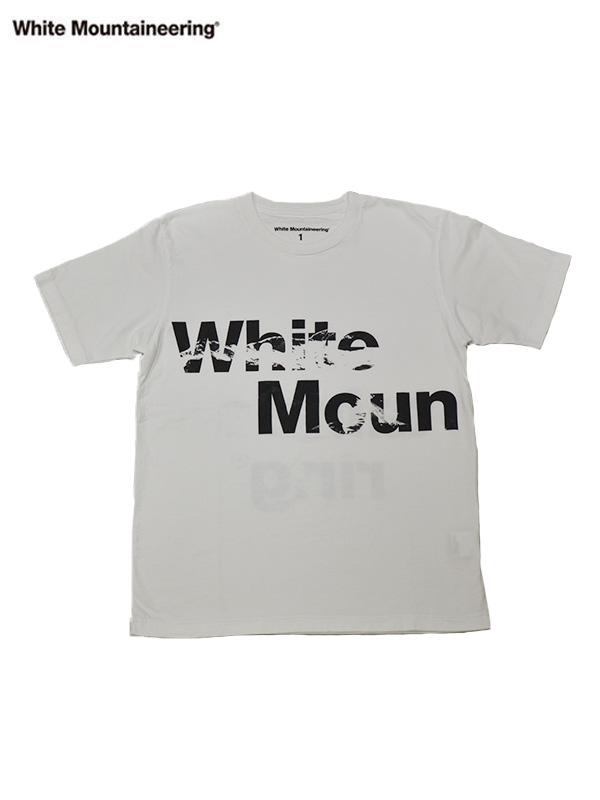 画像1: 【White Mountaineering - ホワイトマウンテニアリング】WM2173504 T-SHIRT / WHITE (T-シャツ/ホワイト) (1)