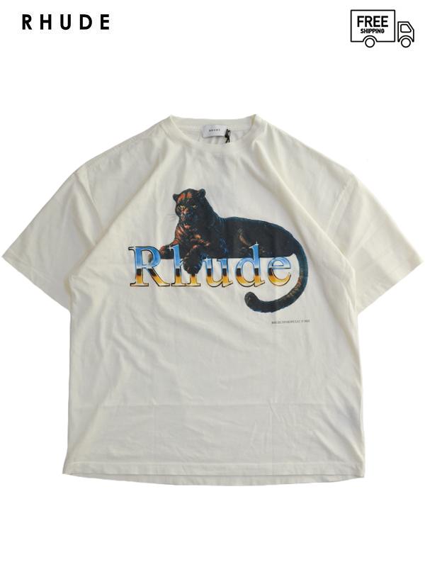 画像1: 【RHUDE - ルード】 Leopard Tee / White (Tシャツ/ホワイト) (1)