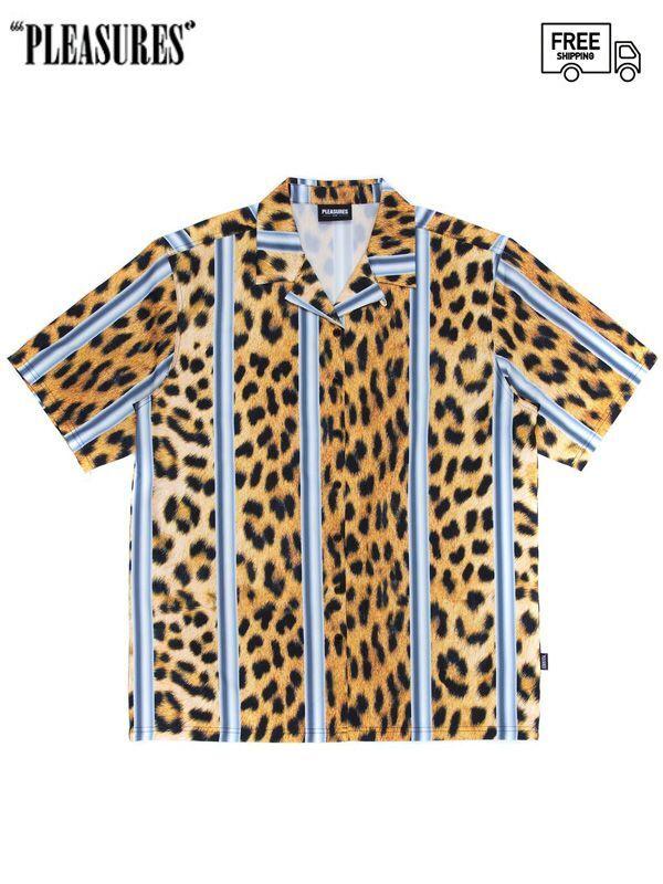 画像1: 【PLEASURES - プレジャーズ】Eddie Button Down  / Cheetah (シャツ/チーター) (1)
