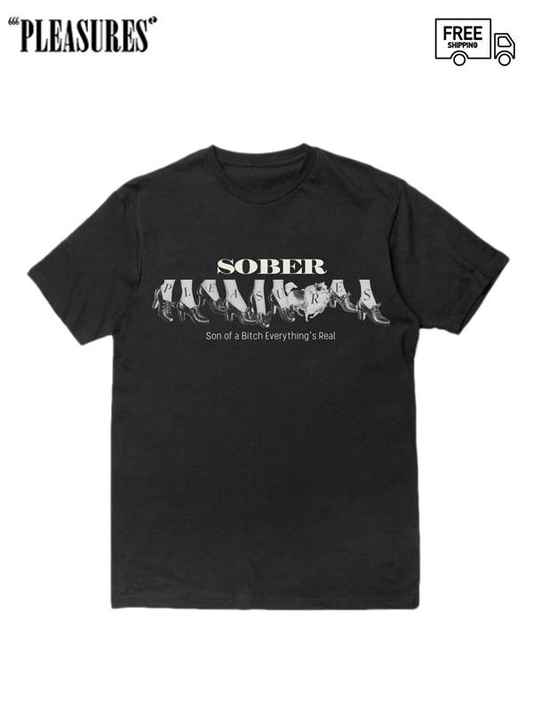 画像1: 【PLEASURES - プレジャーズ】Sober Tee / Black (Tシャツ/ブラック) (1)