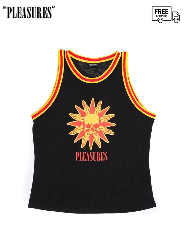 画像1: 【PLEASURES - プレジャーズ】Atmosphere Basketball Jersey / Black (シャツ/ブラック) (1)