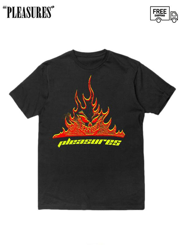 画像1: 【PLEASURES - プレジャーズ】Flameboy Tee / Black (Tシャツ/ブラック) (1)