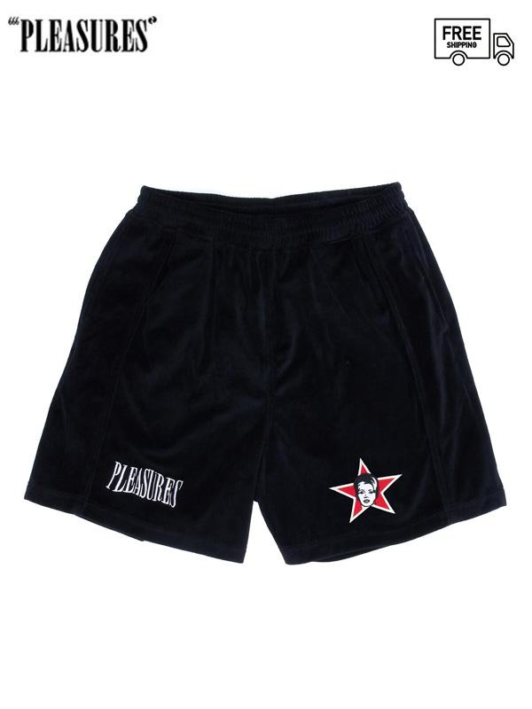 画像1: 【PLEASURES - プレジャーズ】Party Animal Velour Shorts / Black (ショーツ/ブラック) (1)
