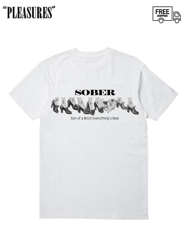 画像1: 【PLEASURES - プレジャーズ】Sober Tee / White (Tシャツ/ホワイト) (1)