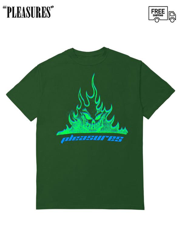 画像1: 【PLEASURES - プレジャーズ】Flameboy Tee / Green (Tシャツ/グリーン) (1)