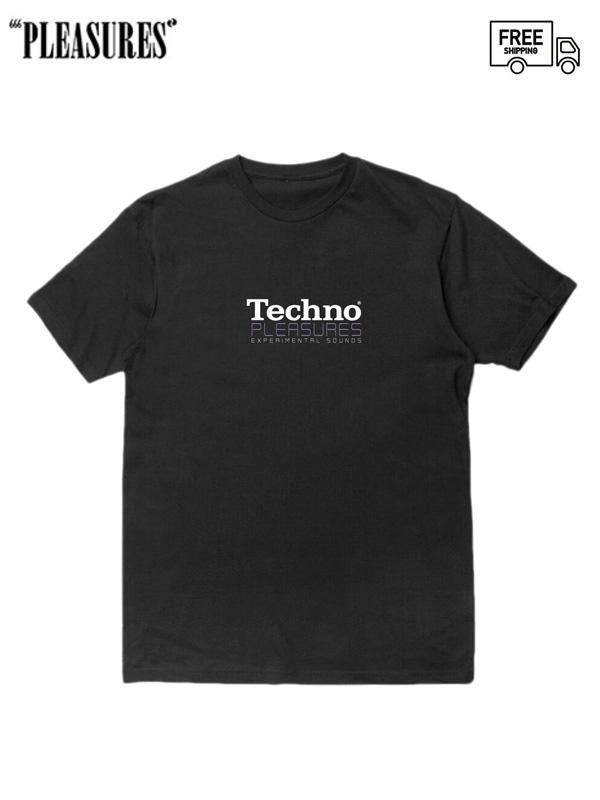 画像1: 【PLEASURES - プレジャーズ】Techno Tee / Black (Tシャツ/ブラック) (1)