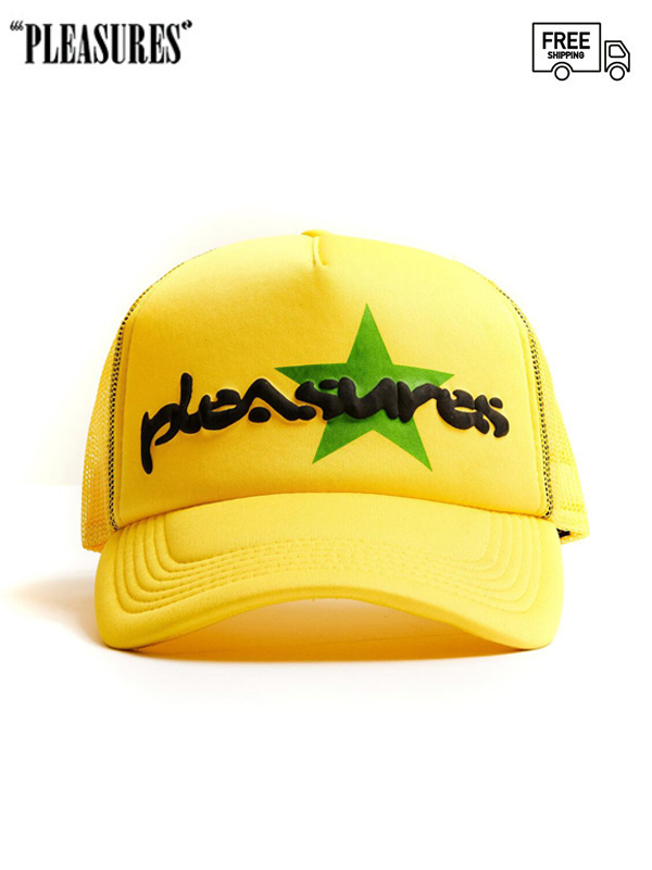 画像1: 【PLEASURES - プレジャーズ】Vibration Mesh Trucker Cap / Yellow (キャップ/イエロー) (1)