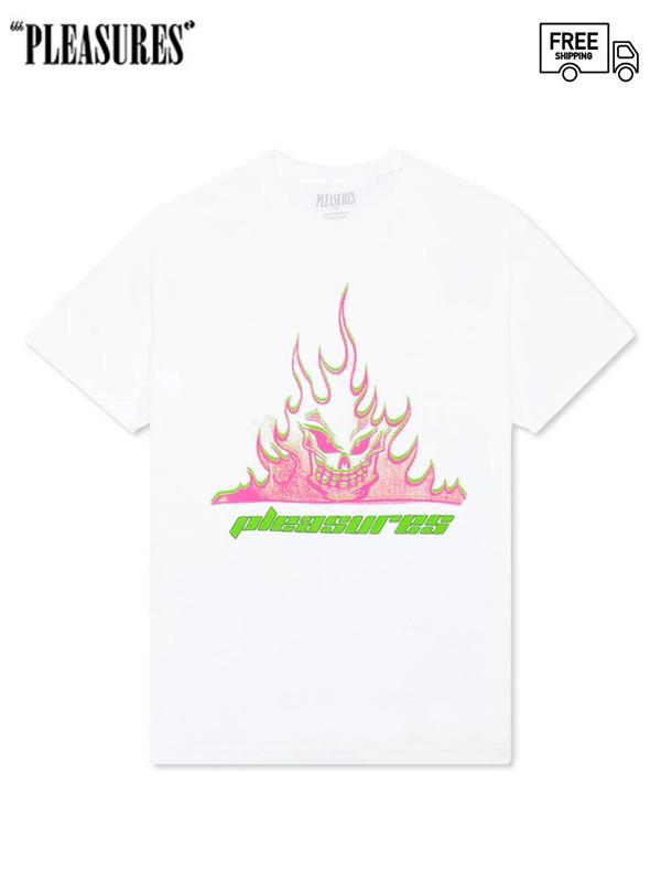 画像1: 【PLEASURES - プレジャーズ】Flameboy Tee / White (Tシャツ/ホワイト) (1)